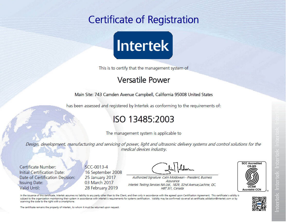 ISO 9001-2008 and ISO 13485-2003 certified